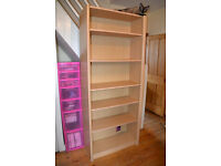 Large Home Office Light Oak/Pine Effect Bookcase