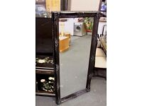 Black lacquered antique style X-Large 5ft ornate mirror