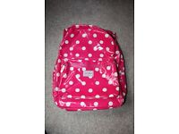 Kath Kidston polka dot oil cloth padded rucksack