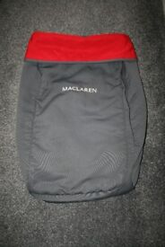 Maclaren Major Special Needs buggy footmuff apron (Charcoal grey / red) CAN POST