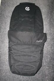 Babystyle Oyster FOOTMUFF in black CAN POST