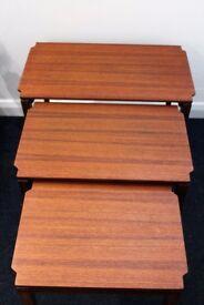 Richard Hornby nest of teak tables, 1960s.