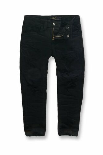 New Jordan Craig KIDS HOLLYWOOD DENIM (BLACK) Shredded Size 7 Brand New!