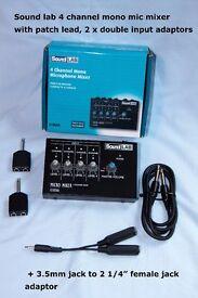 Sound Lab mini microphone mixer