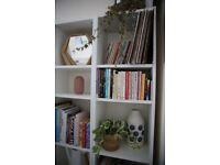 Good Condition White Shelving Storage Unit/Bookshelf X2