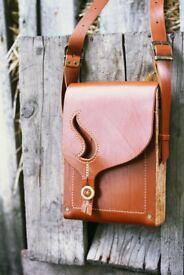 Original handmade handbags are made of high quality leather