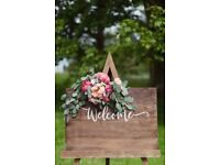 A1 Wooden Welcome Sign Board - Wedding Stationery
