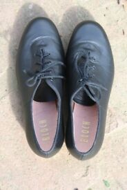 BLOCH JAZZ LEATHER TAP SHOE. BLACK SIZE 7.
