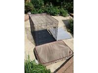 Large Dog cage and beds