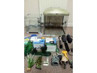 Two fish tanks & accessories