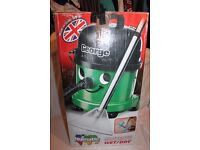 Numatic George Wet and Dry Hoover. GVE370. As new. with tools. Boxed