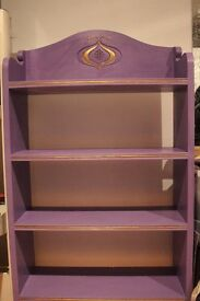 Wooden Bookshelf with carved detailing- 96w x 62d x 149h