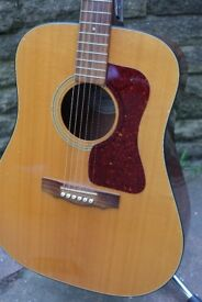 GUILD D-25 Acoustic Guitar Natural Dreadnought Westerly Made in USA