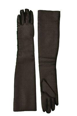 Maison Margiela Womens Faux Fur S32TS0036 Gloves Solid Black Size M