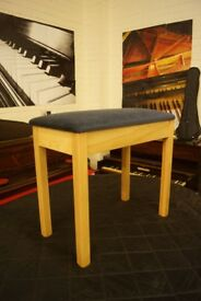 New piano stool - standard size with open top music storage