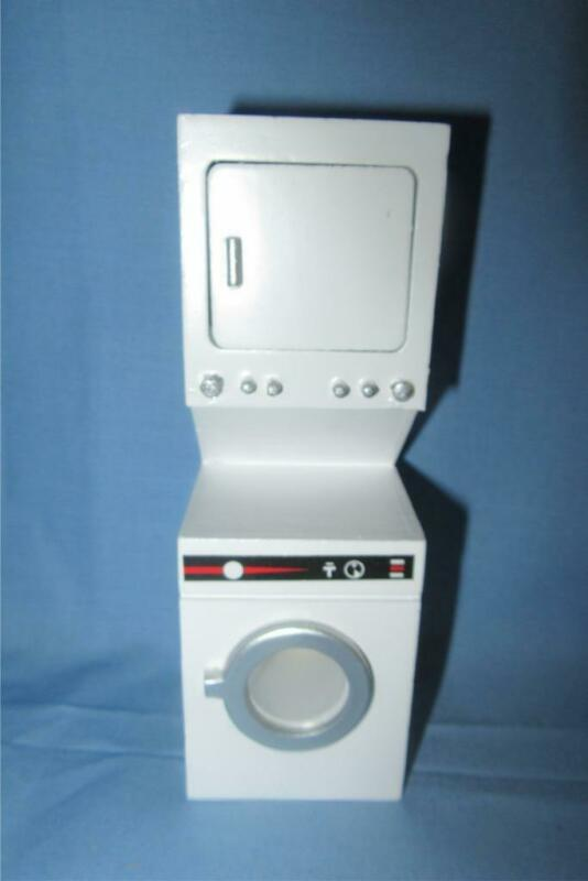 MINIATURE DOLLHOUSE 1:12 SCALE - STACKED WASHER & DRYER - T5492