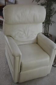 Electric Recliner Leather Armchair