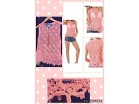 Superdry Lace Top Size S Like 8-10 Brand New