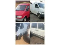 We Buy unwanted scrap ford transits 95-00 Toyota hi ace Mercedes sprinters and Vito vans
