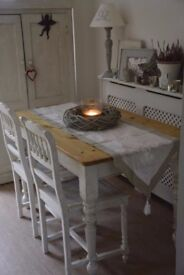 Antique Pine Kitchen Table French Country Style