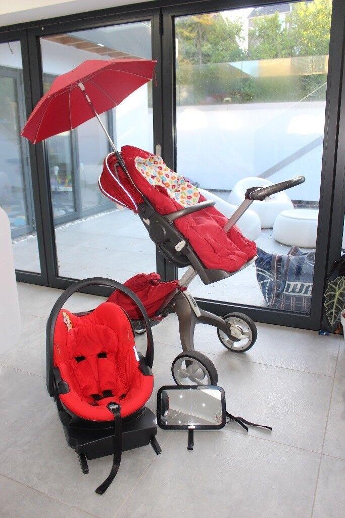Inteligentny Stokke Xplory V2 + besafe carseat with X1 ISOfix base + Baby Child LO89