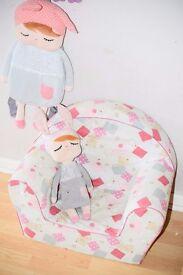 Kids Comfy Soft Foam Chair |Toddlers Armchair | Nursery