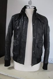 Leather Jacket, Gents, black, size 42