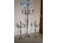 3 Candelabra – 2No Short - 1No Tall. Very theatrical and very large.