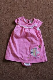 Baby Girl Tu Dress with built in vest, size 3 – 6 months
