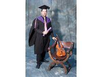 Teacher of Violin, Viola and Cello