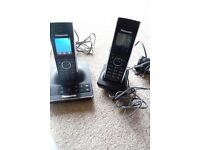 Brand new boxed Panasonic dual phones with answer phone - never used