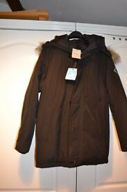 "Brand New Hardy Aimes Goose Down Parka Size S 38"" to 40"" Chest RRP £350"