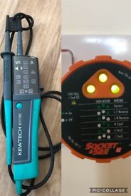 Kewtech Voltage & Continuity tester + Socket & See mains tester