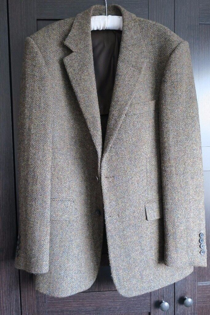 Tweed Suit Jacket - Norton and Sons - bespoke tailor - size 40R