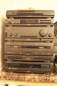 Philips Hi-fi Stereo Combination with Turntable, CD player, twin tape deck and radio