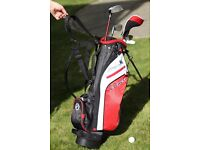 Complete Fazer JTec 4.0 Junior Golf Starter Set - driver, rescue, iron, wedge, putter and stand bag