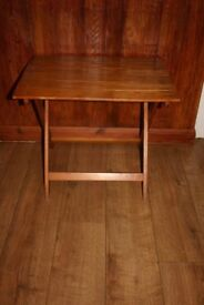 Folding Picnic/Camping/Occasional Table - Solid Wood