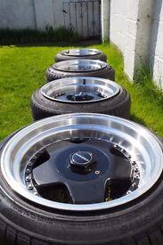 """16"""" Borbet A split wheels, 16 x 9j, 4 x 100, 4 x 108"""