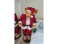 5ft Animated Singing Christmas Reindeer Decoration