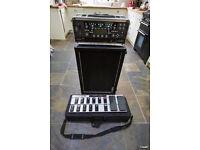 Kemper rack profiler/Matrix GT800FX/Harley Benton 2x12 /chipped Behringer FCB1010
