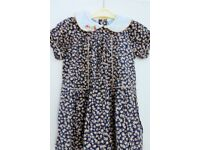 Girls / Toddlers Dress with Embroidered Collar, age approx 2 - 3 Years, Histon