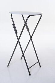 High Bar Table Foldable 110 cm high - 60 cm round - very good condition