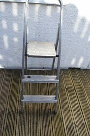 Small set of folding steps handy for use in house