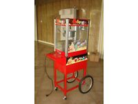 Brand New Popcorn Machine Popcorn Maker 220V 8oz With Stand Cycle Cart