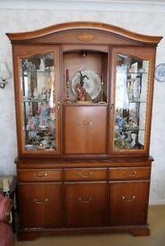 Beautiful Veneered Display Cabinet