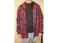 New Pendleton Fitted Wool Shirt - Red Check (Size Large)