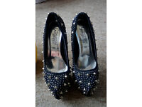 Black new look high heels size 3