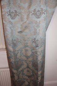 Duck Egg Blue Lined Curtains (2 pairs)