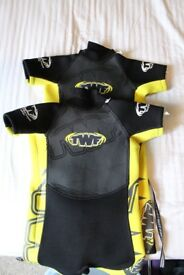 Two Kid's Shortie Wetsuits