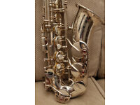 Yamaha 82ZS Custom alto saxophone, silver plated